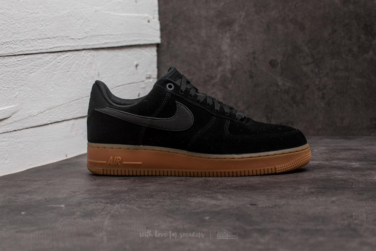 Nike - Air Force 1 '07 Lv8 Suede Black/ Black-gum Medium Brown. View fullscreen