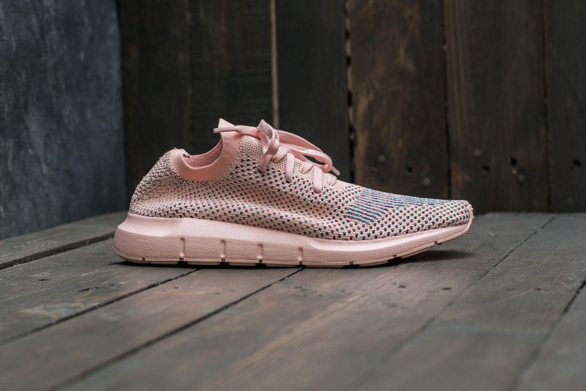 7485cd85b3a69 Lyst - adidas Originals Adidas Swift Run Primeknit W Icey Pink  Icey ...