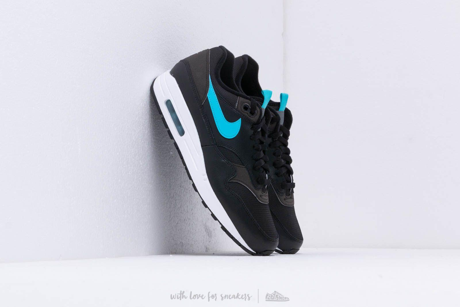 Lyst - Nike Air Max 1 Se Black  Blue Fury in Blue for Men 4650886dd