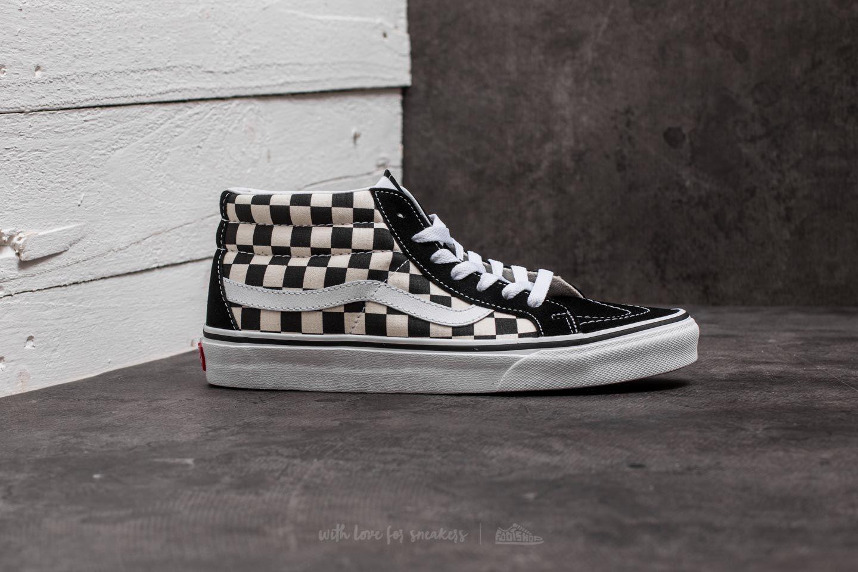 69d829143a1 Lyst - Vans Sk8-mid Reissue Checkerboard  True White for Men