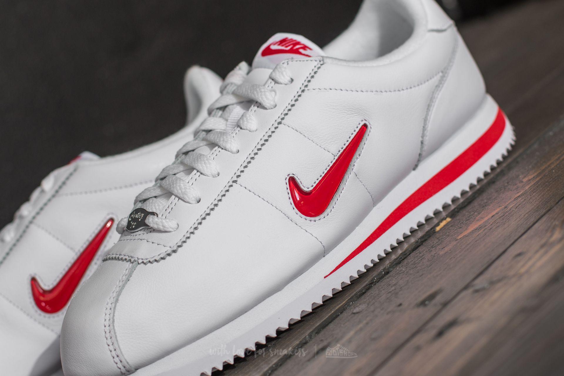 3e333527300944 Lyst - Nike Cortez Basic Jewel Qs Tz White  University Red for Men