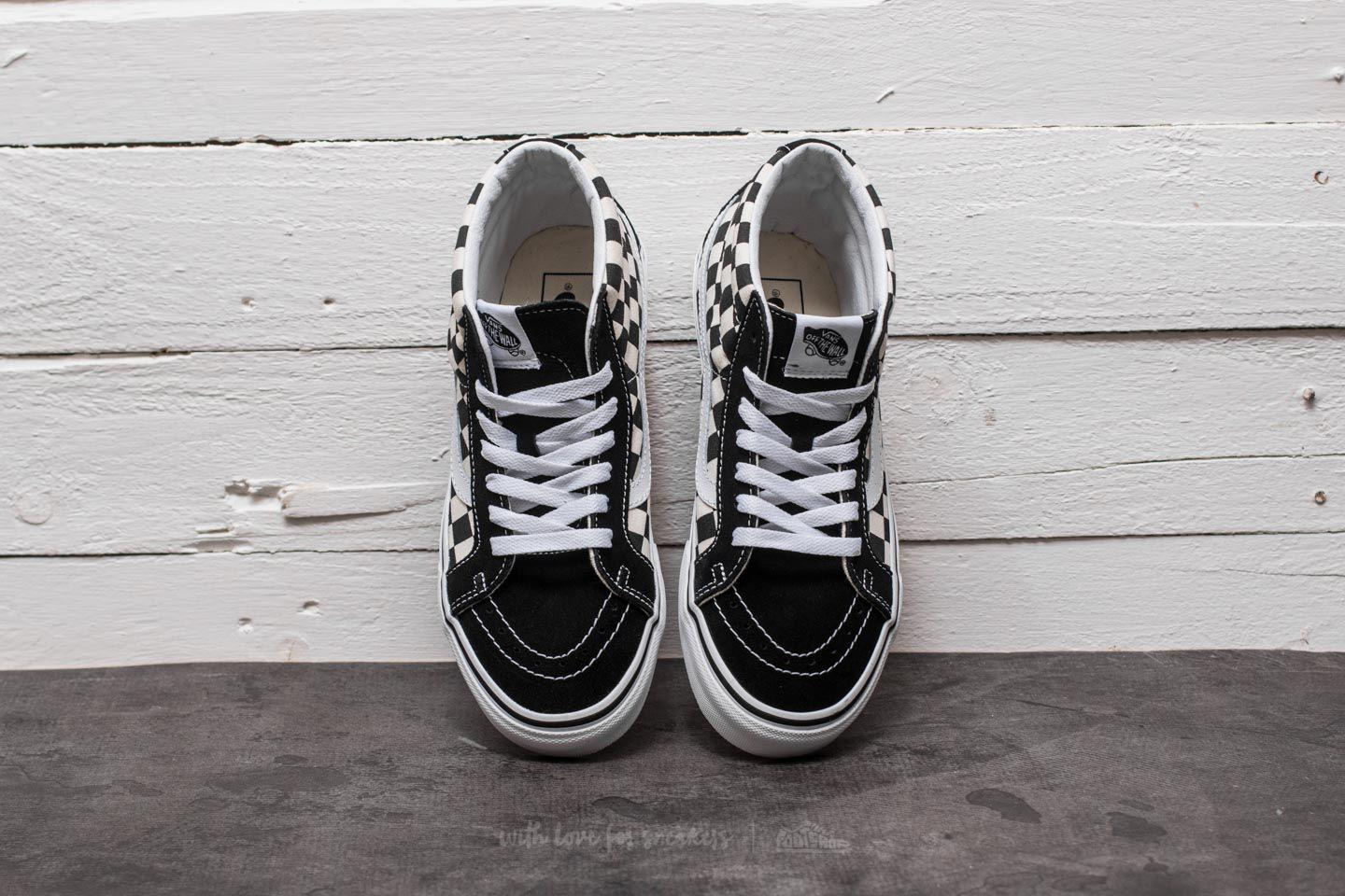 top-rated professional suitable for men/women 100% high quality Sk8-mid Reissue Checkerboard/ True White