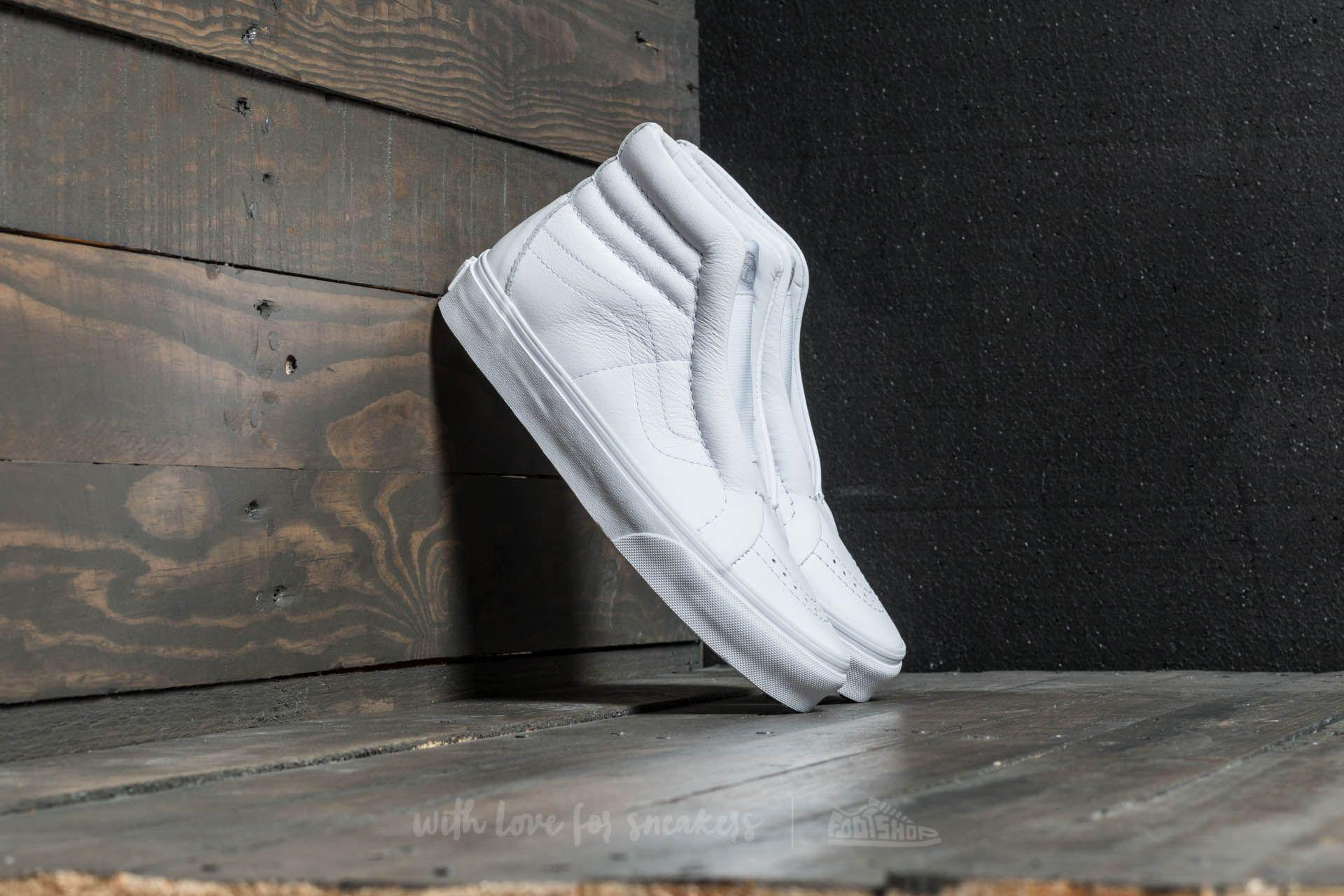 d1adf11a8b758e Lyst - Vans Sk8-hi Reissue Laceless (leather) True White in White ...