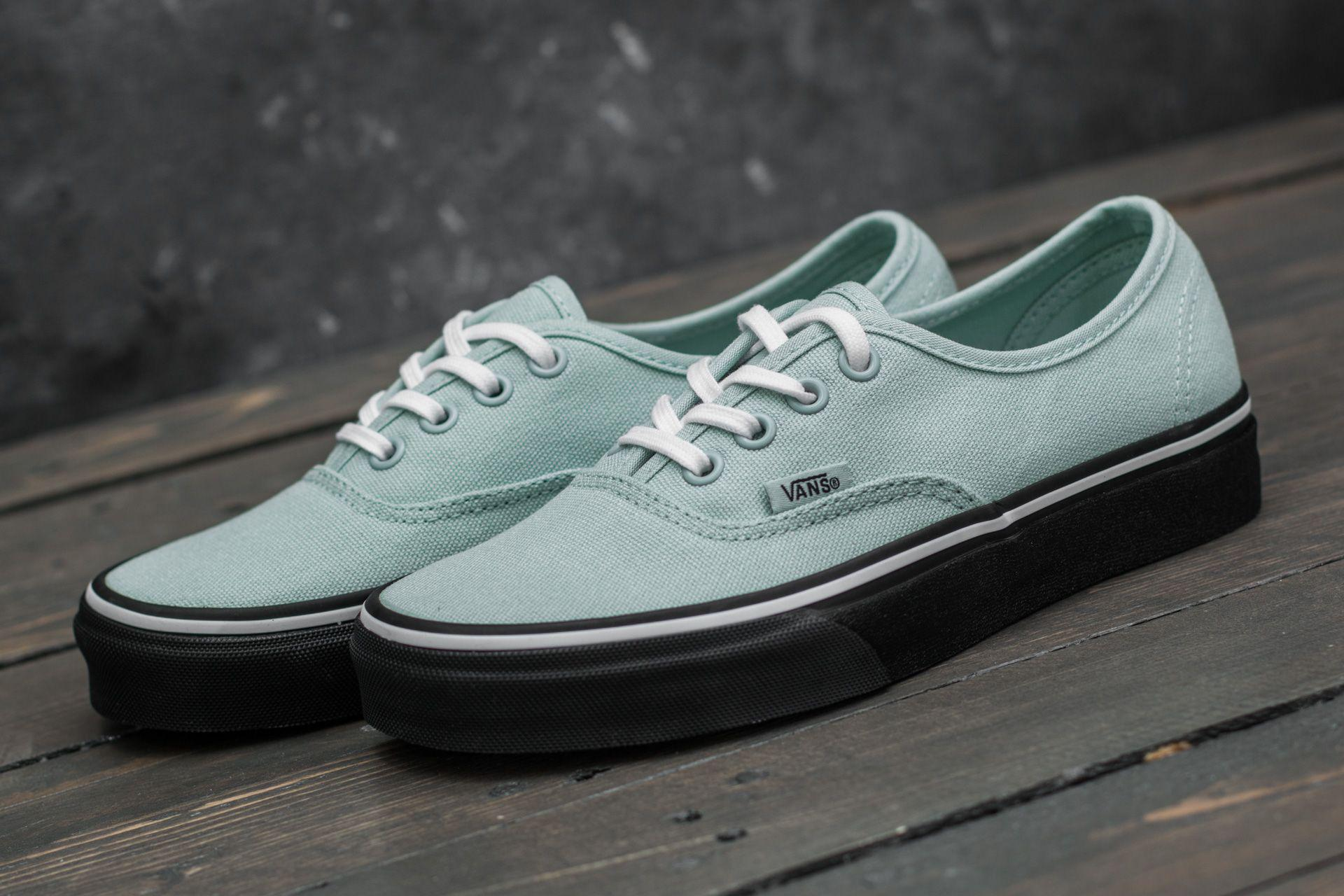 c3cdfba77b Lyst - Vans Authentic (black Outsole) Harbor Grey  True White in ...
