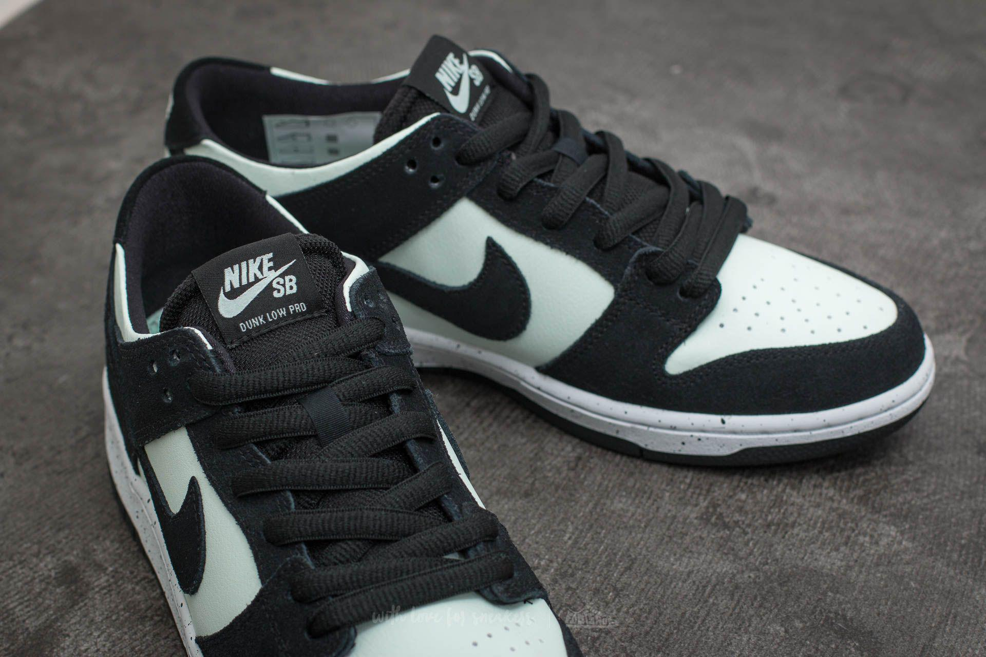 save off 7205f cbfd6 Nike Sb Zoom Dunk Low Pro Black  Black-barely Green-white in Black ...