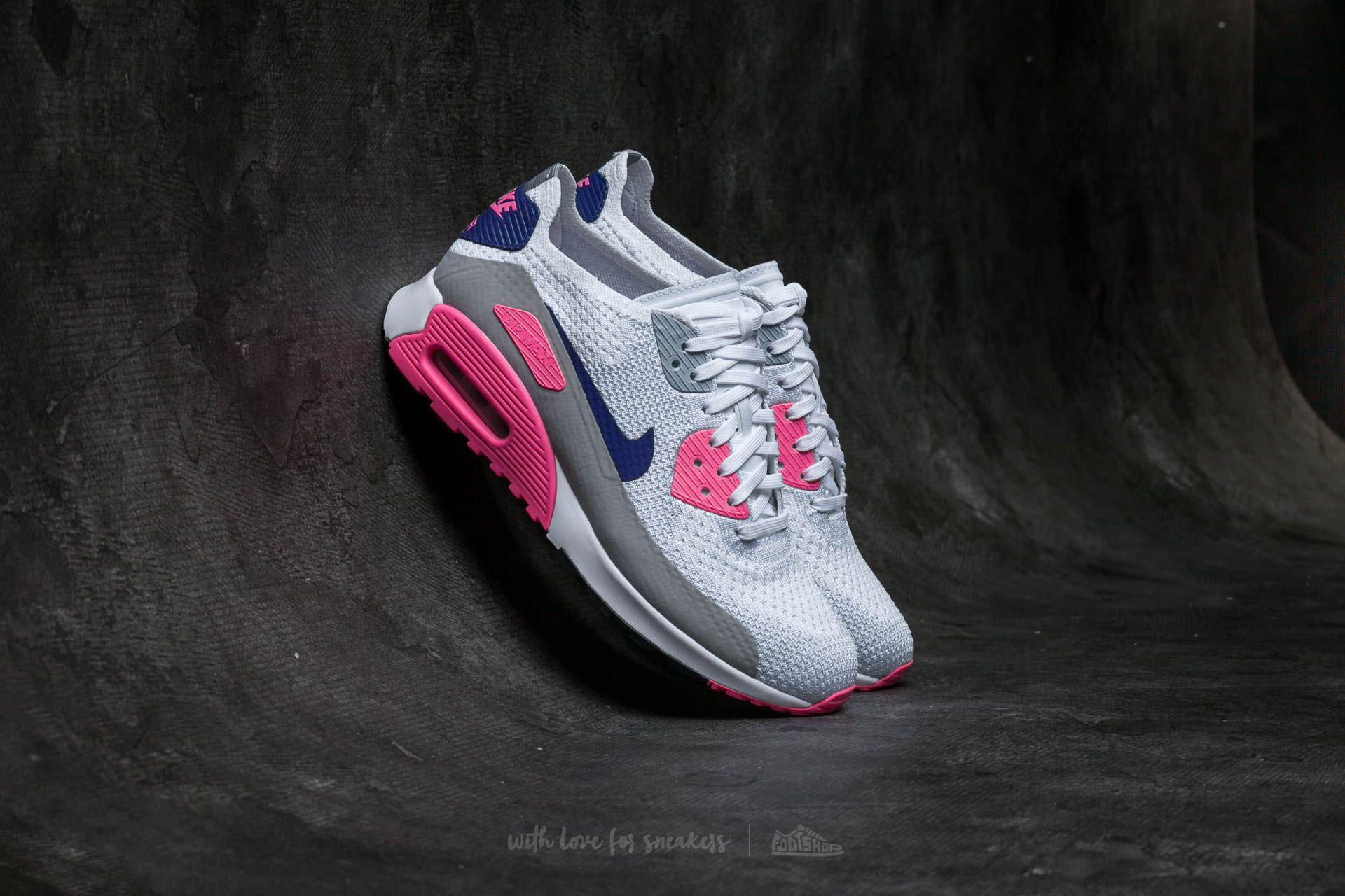 timeless design f5943 28fb2 Nike W Air Max 90 Ultra 2.0 Flyknit White/ Concord-laser Pink-black ...