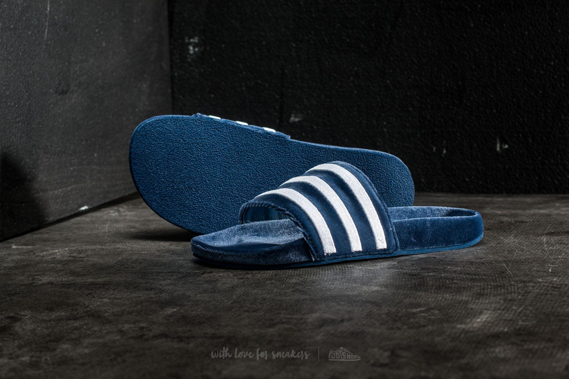 the best attitude 20d8e c0a4a adidas Originals Adidas Adilette Mystery Blue  Footwear White ...