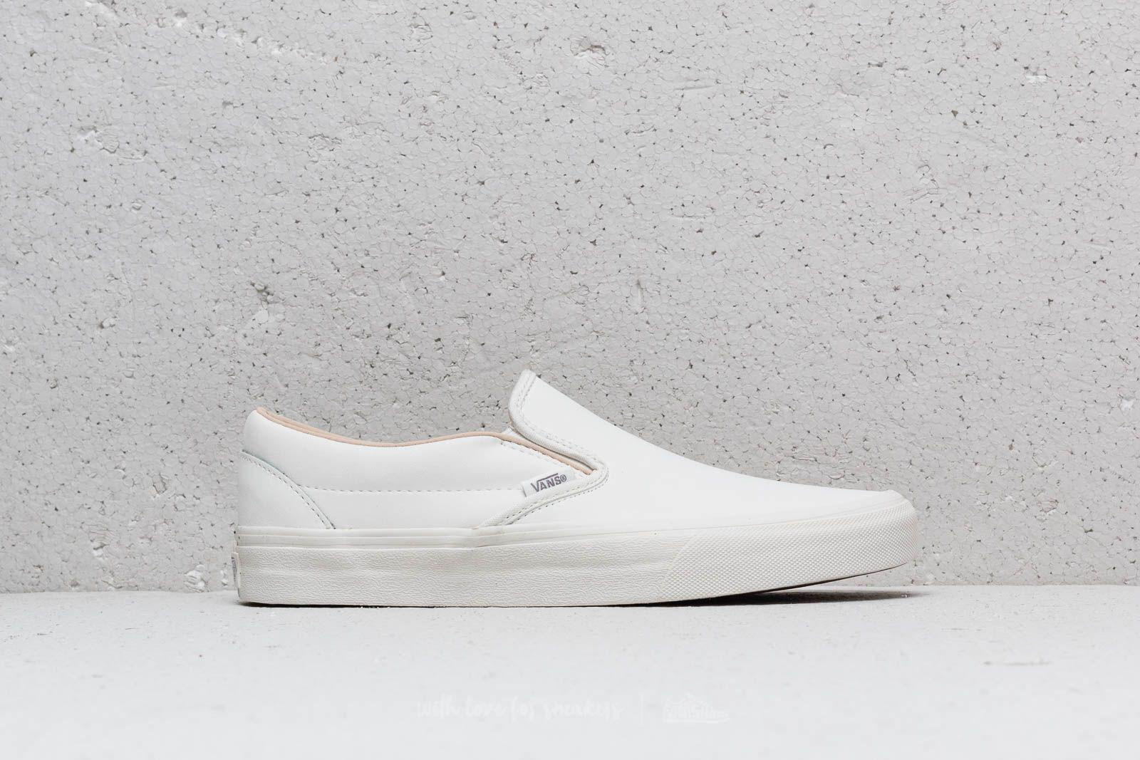 330da870f1 Lyst - Vans Classic Slip-on (buck) Blanc De Blanc for Men