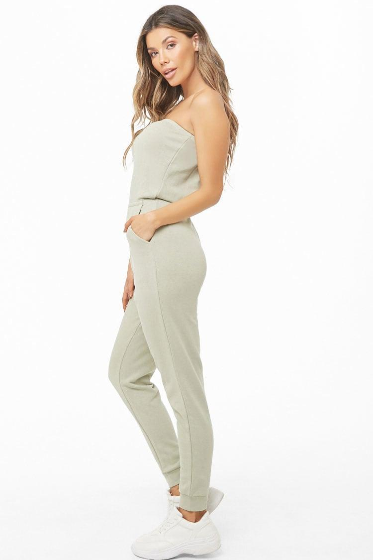 b0d51f3a1c27d0 Forever 21 - Multicolor French Terry Tube Jogger Jumpsuit - Lyst. View  fullscreen