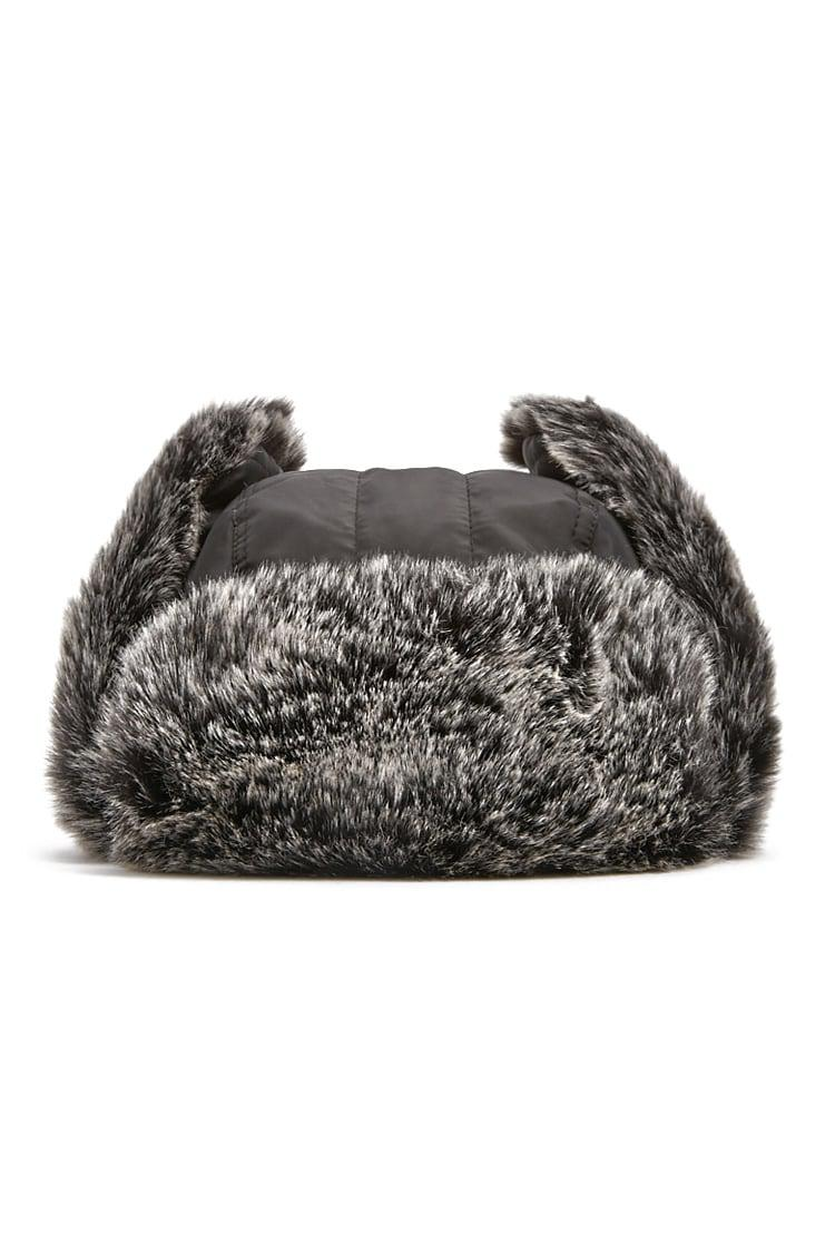 70d30db6d7d Lyst - Forever 21 Faux Fur Trapper Hat in Gray