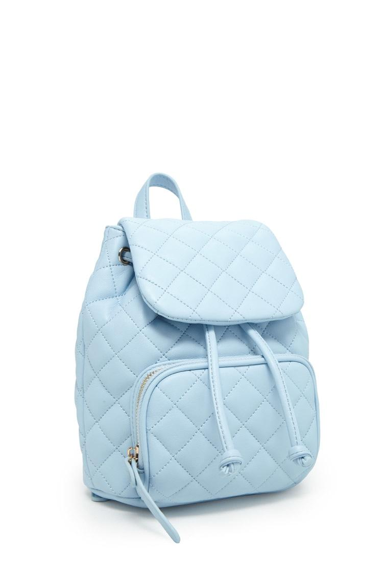 Forever 21 Quilted Mini Backpack In Blue Lyst