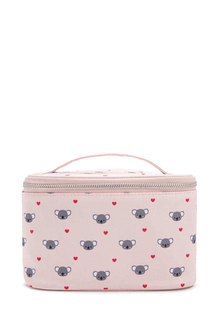 8019cc2b3c7c Lyst Forever 21 Koala Graphic Makeup Bag In Pink