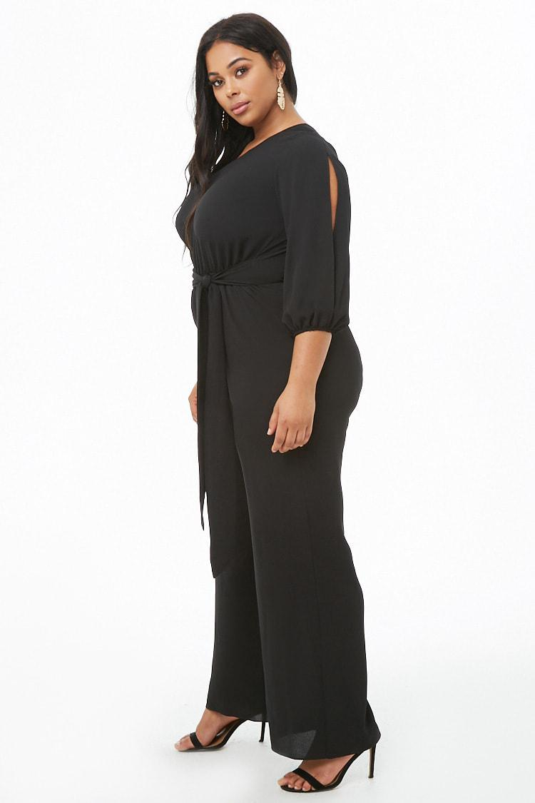 e76bb4cea671f Forever 21 Women s Plus Size One-shoulder Jumpsuit in Black - Lyst