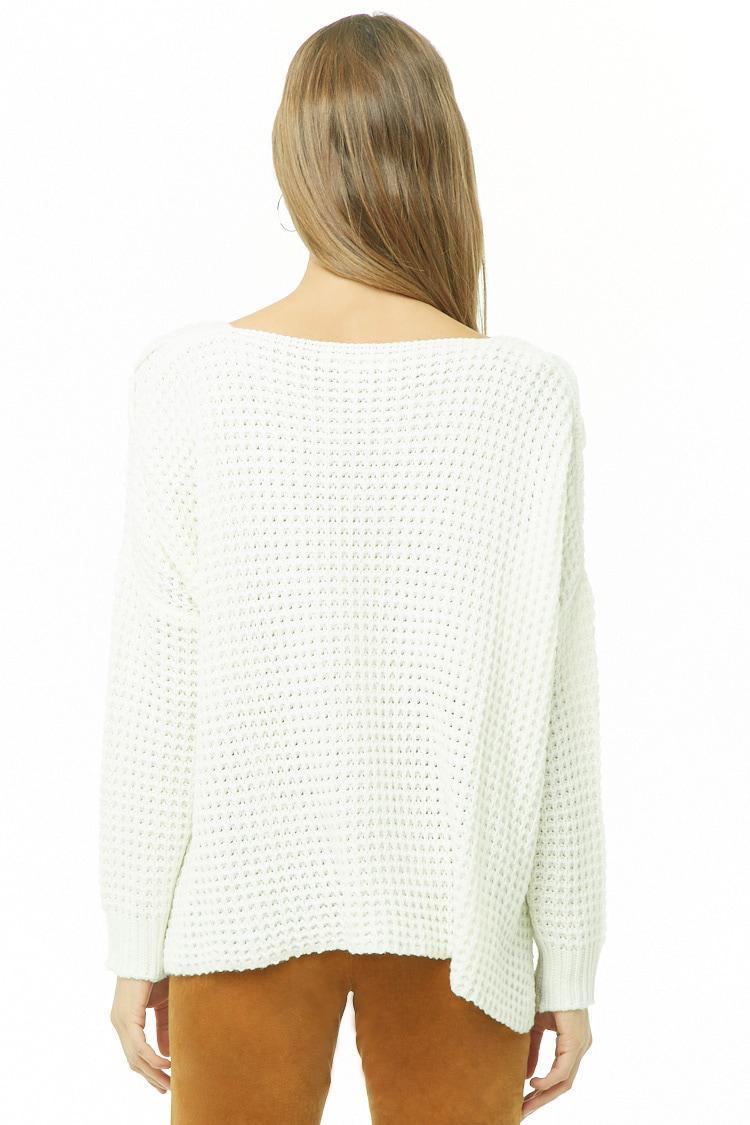 ... Ribbed Lace-up Tassel-hem Sweater - Lyst. View fullscreen 79a3f4cf8