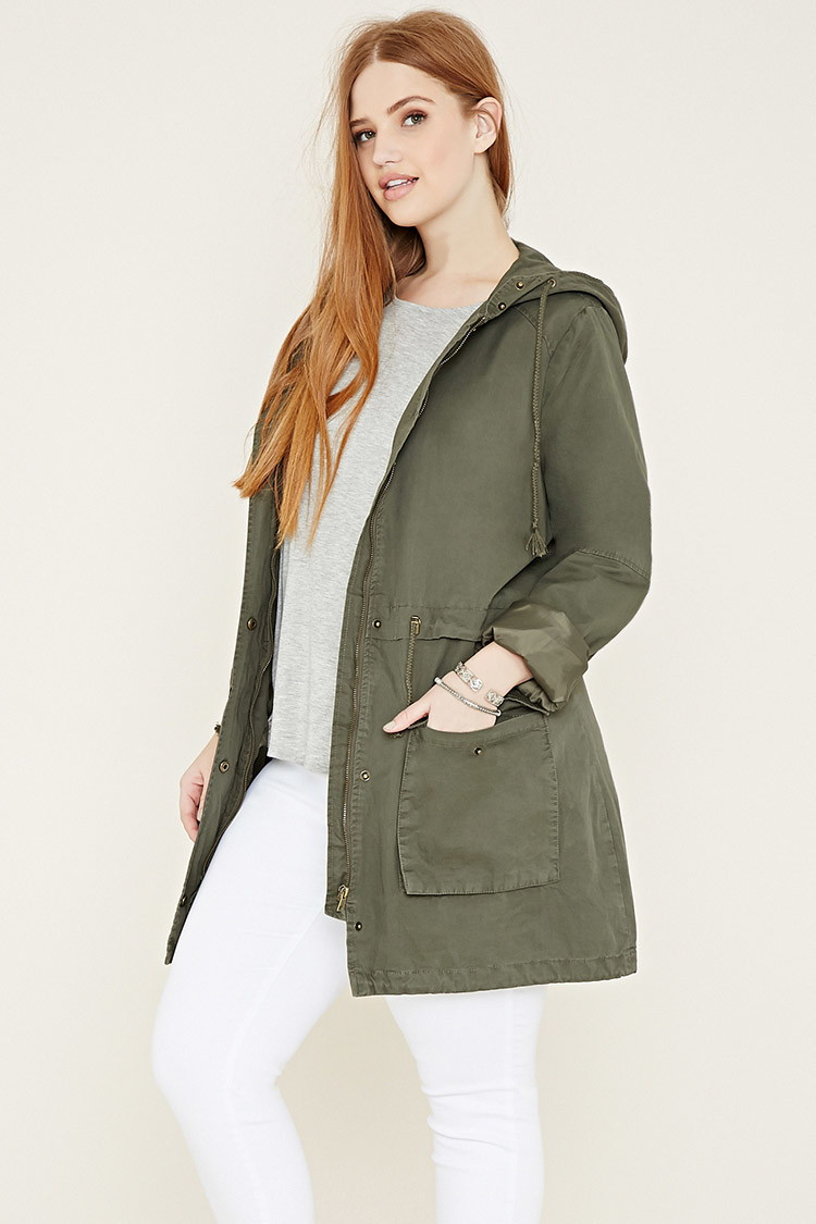 adc87ea3d4d Lyst - Forever 21 Plus Size Utility Jacket in Green