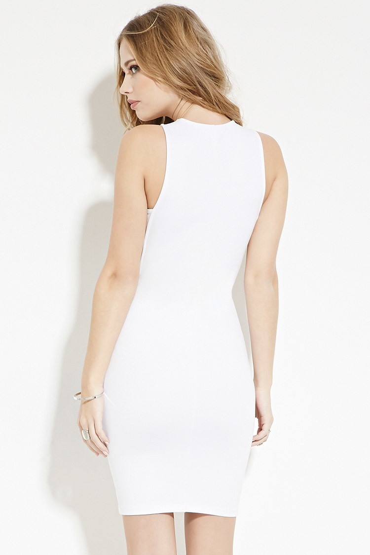 e350bc62cd5 Forever 21 Side-cutout Dress in White - Lyst