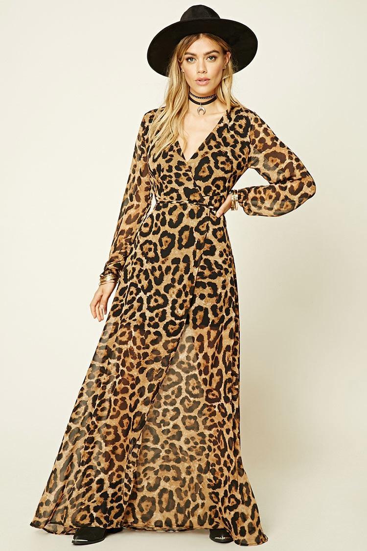 4b1c8ae8b6 Lyst - Forever 21 Reverse Leopard Print Dress