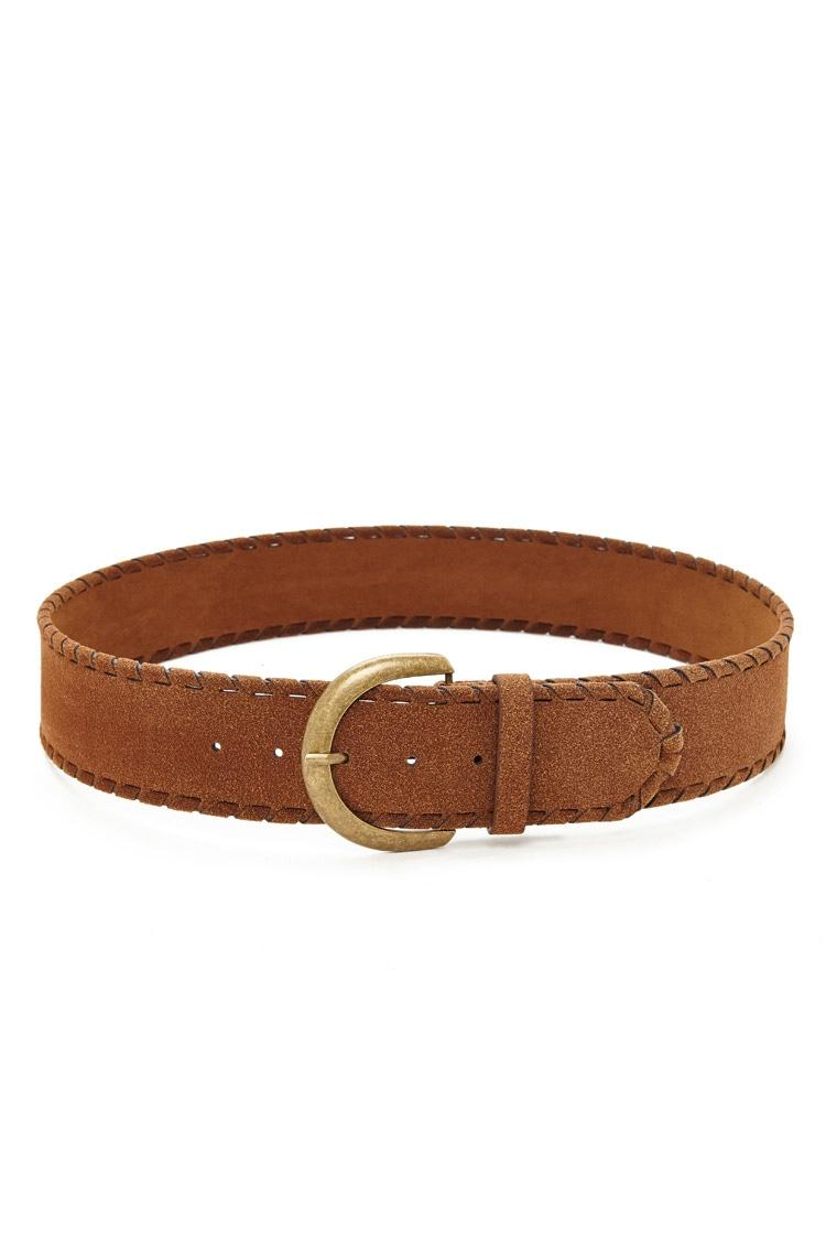 forever 21 spiral wrap leather belt in brown lyst