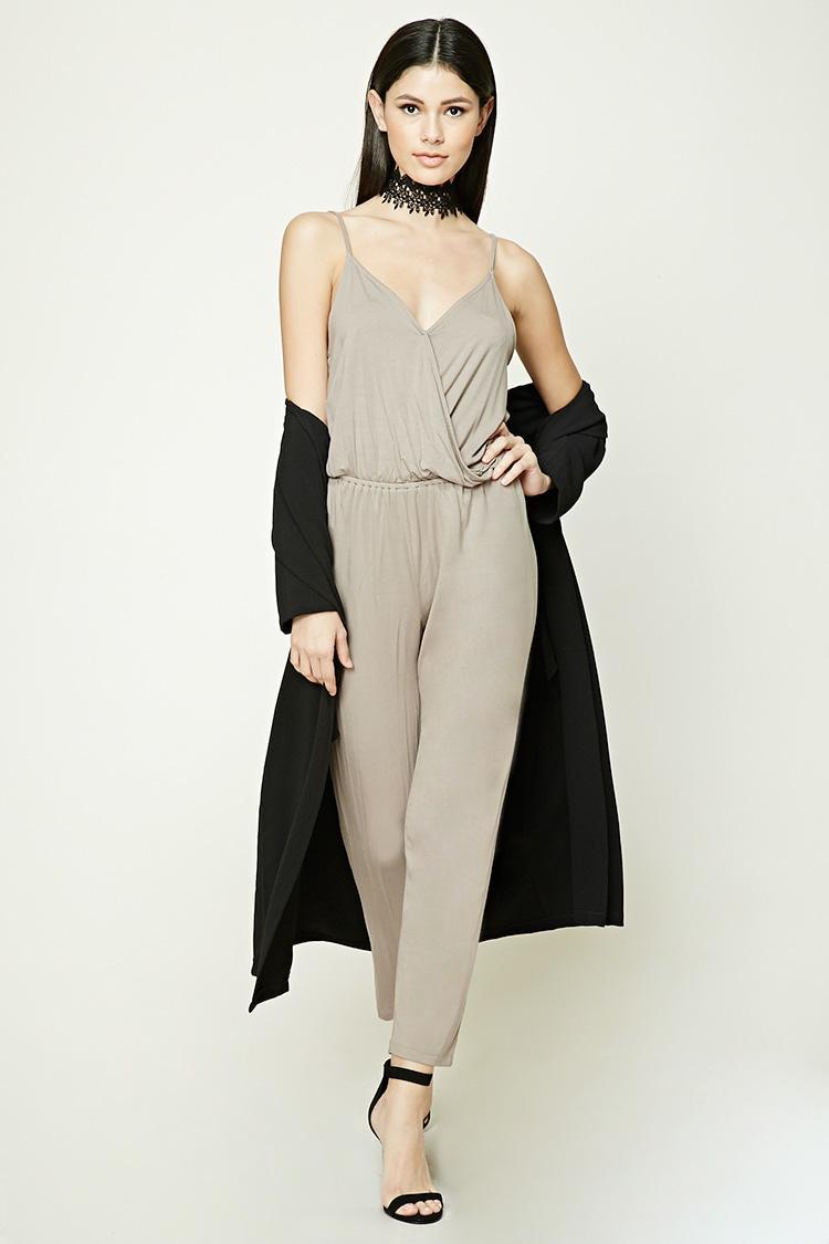 Brilliant Forever 21 Sleek Wideleg Jumpsuit In Black  Lyst