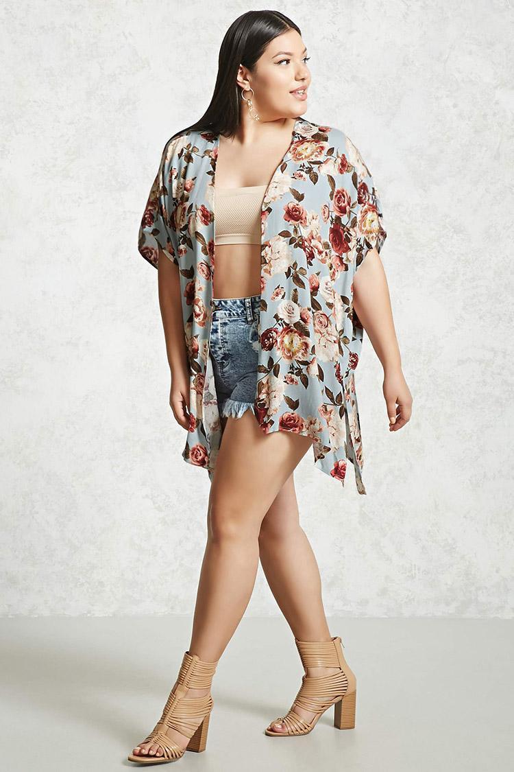Lyst Forever 21 Plus Size Floral Kimono