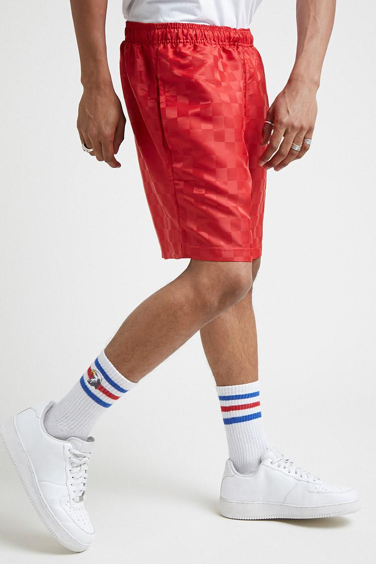 c52a19d0f3 Forever 21 Umbro Checkered Shorts in Red for Men - Lyst