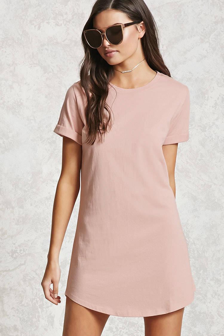 689696e0961e6 Forever 21 Mini T-shirt Dress in Pink - Lyst