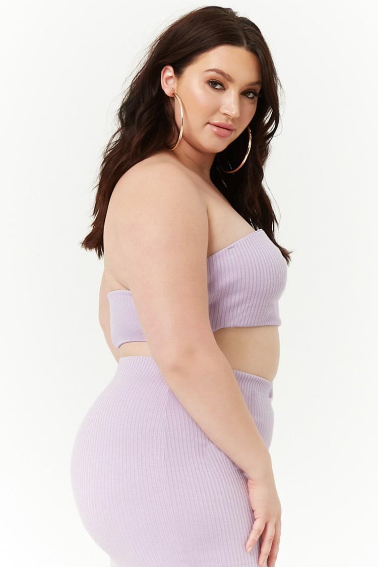 34781f4553 Forever 21 - Purple Women s Plus Size Tube Top - Lyst. View fullscreen