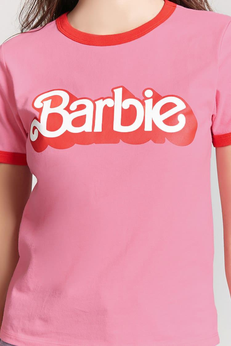 97df2a6c3 Forever 21 Barbie Ringer Tee in Pink - Lyst