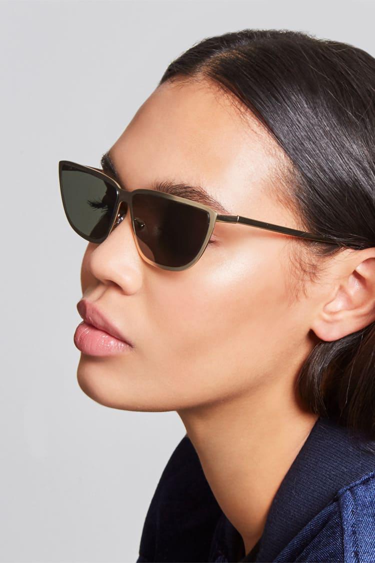 ac735c05bd9 Forever 21 Geometric Cat-eye Sunglasses - Lyst