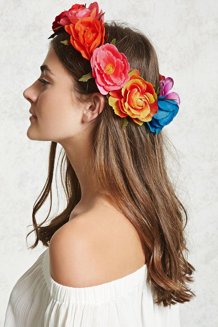 Lyst forever 21 rainbow flower crown in red gallery izmirmasajfo