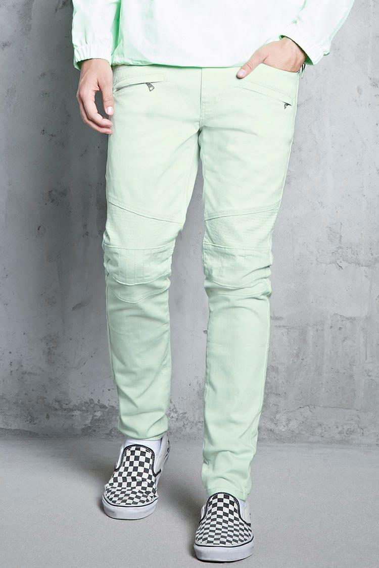 Fashion style Green Mint skinny jeans forever 21 pictures for lady