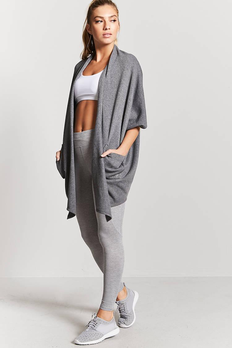 Forever 21 Active Longline Cocoon Cardigan in Gray | Lyst
