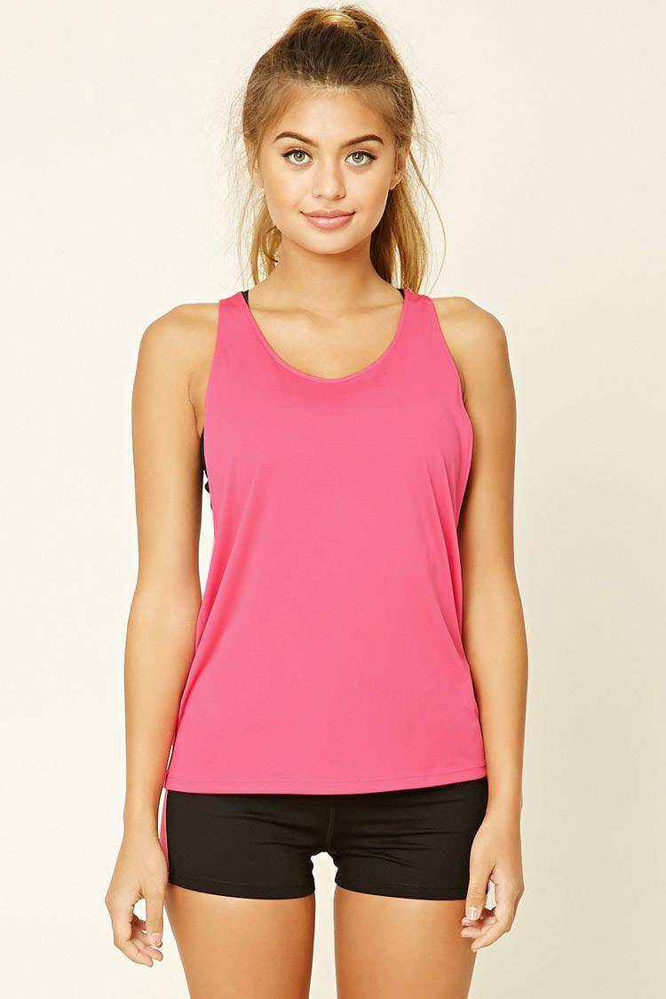 cc3c90397a5d8 Forever 21 Active Get Moving Tank Top in Pink - Lyst