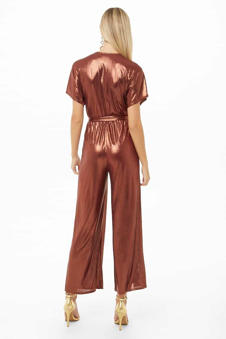 304a70316f1f Forever 21 - Multicolor Metallic Dolman Sleeve Jumpsuit - Lyst. View  fullscreen