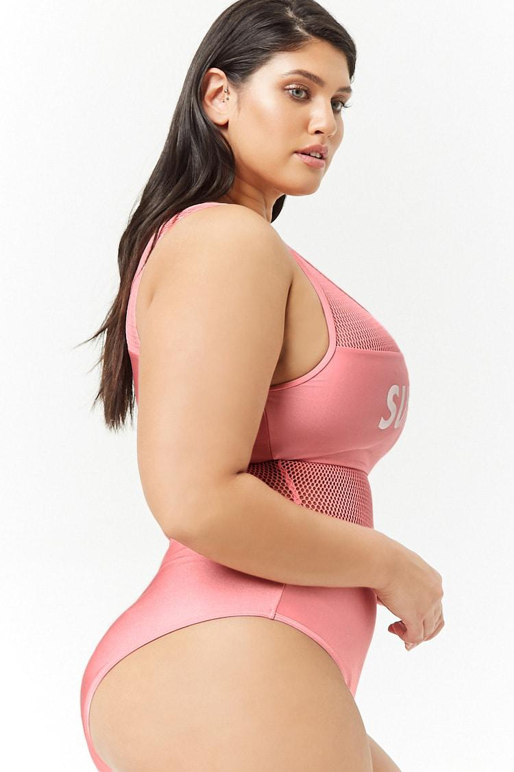 494e19442c025 ... Plus Size Surf Vibes Graphic One-piece Swimsuit - Lyst. View fullscreen