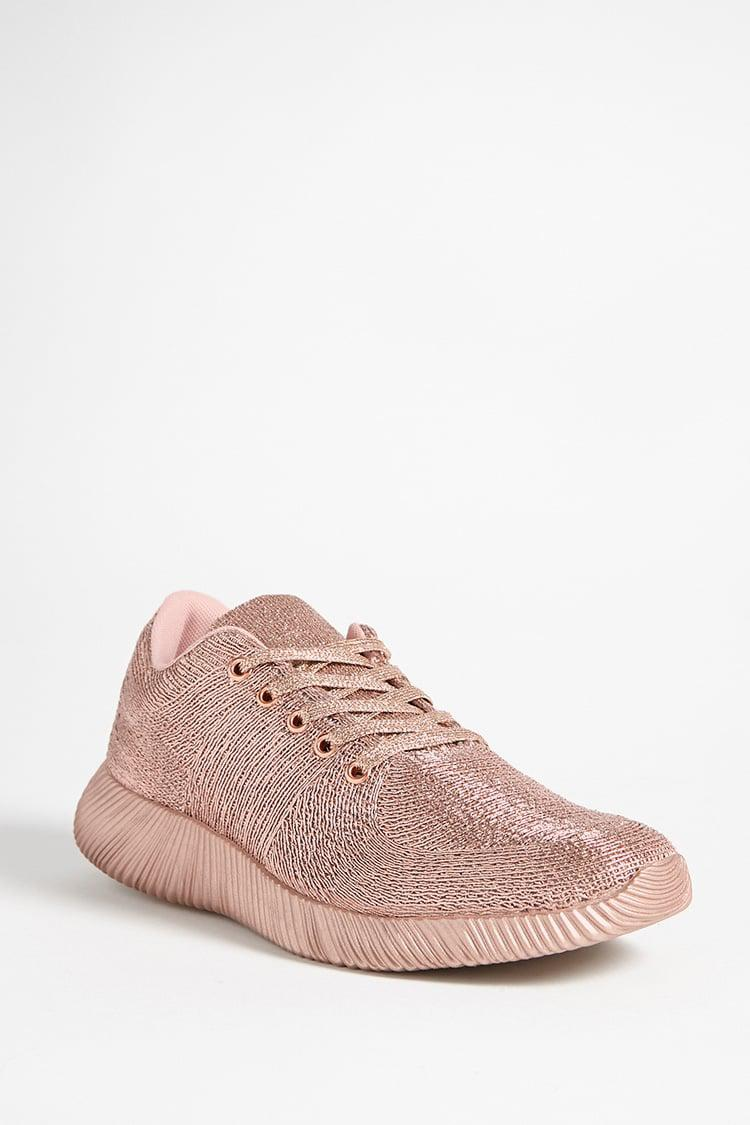 df80d40f188a Lyst - Forever 21 Qupid Metallic Low-top Tennis Shoes in Pink