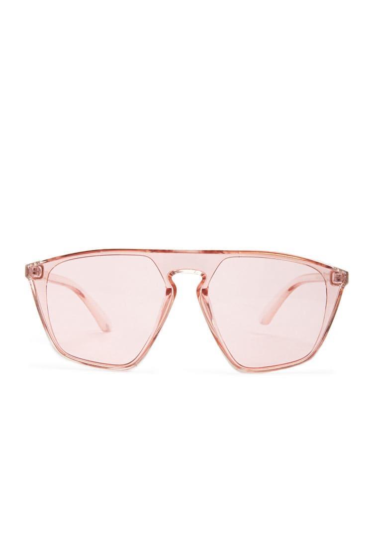 7ba17c798d Lyst De Sol Gafas Aviador Color Tintadas Forever 21 Rosa MVSpqUzG