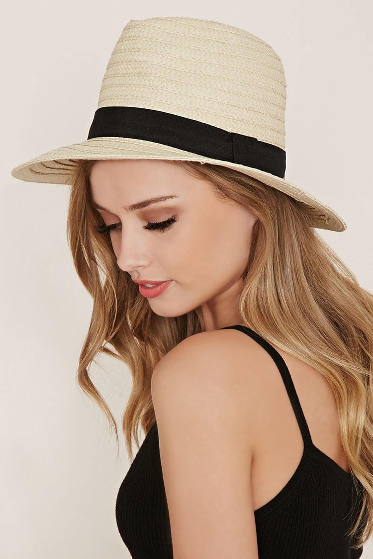 546514c5152 Lyst - Forever21 Straw Fedora in Natural