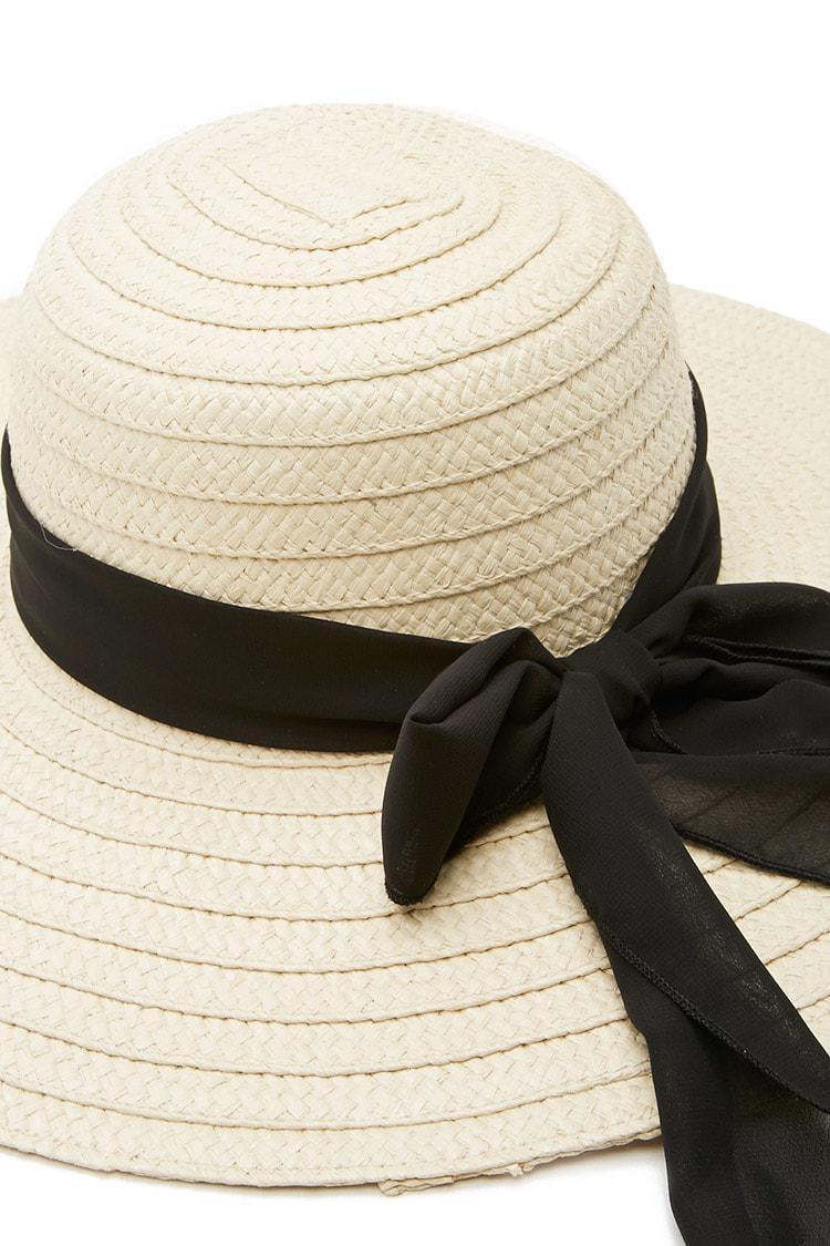667aba1356c Lyst - Forever 21 Wide-brim Straw Floppy Hat
