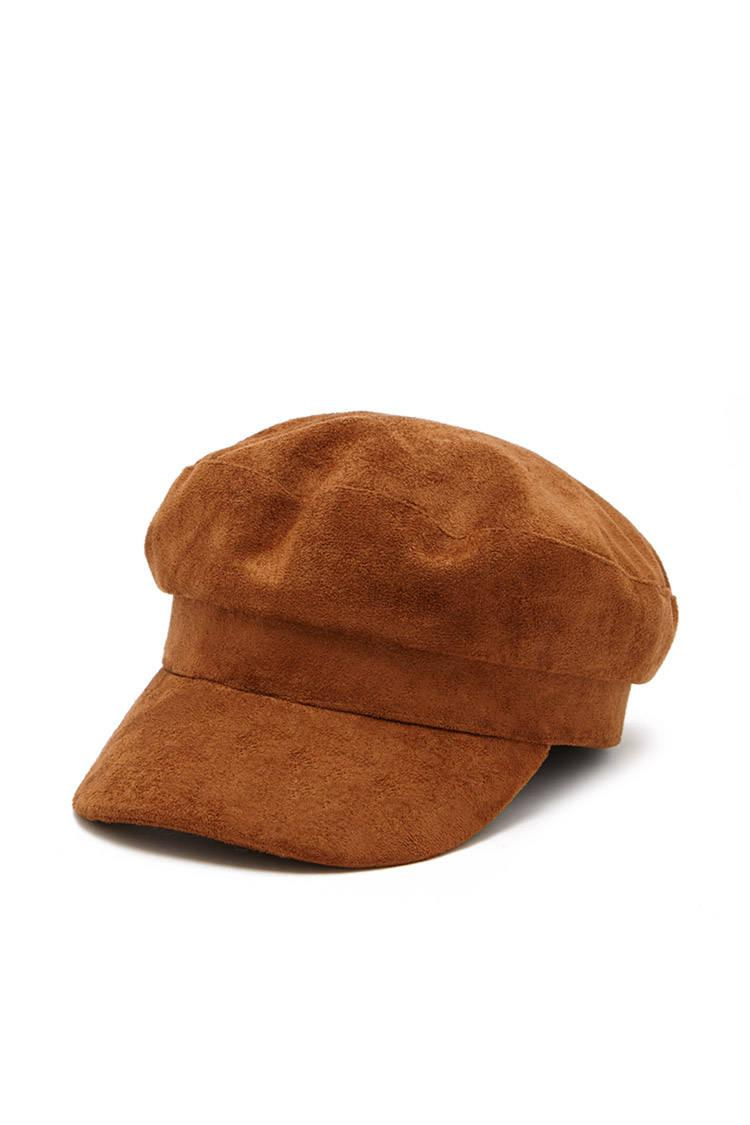 09127a35171 Forever 21 Faux Suede Cabby Hat - Lyst