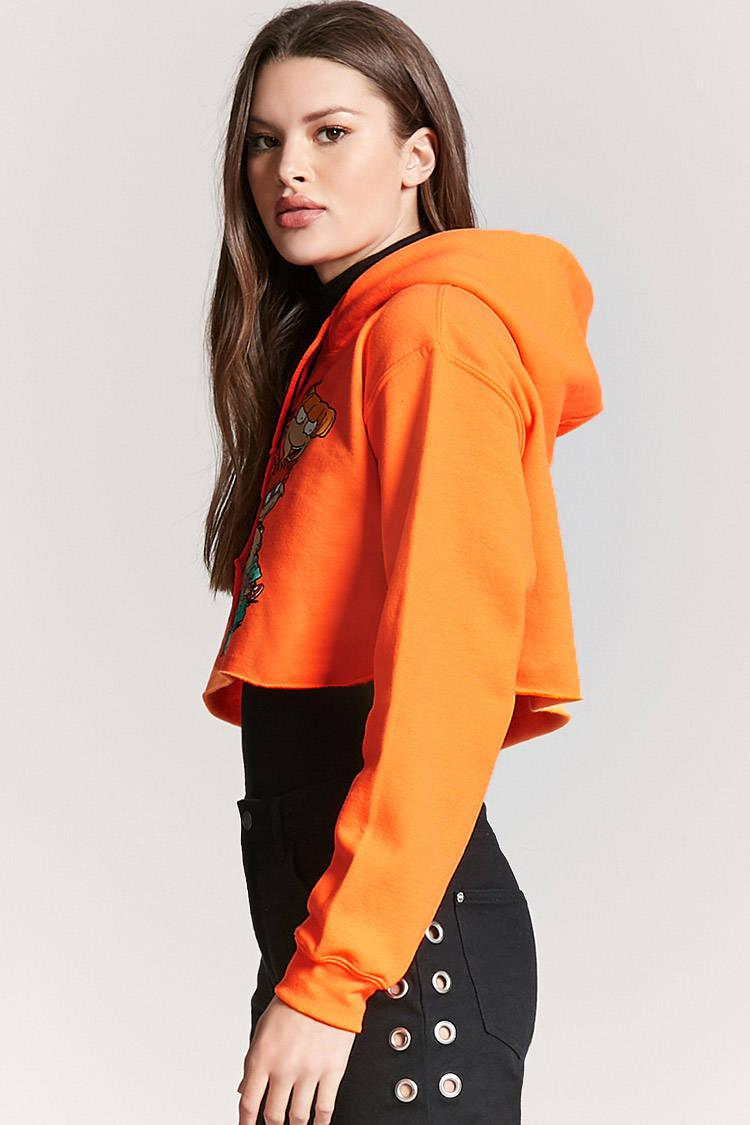 fe0e01235e4336 Lyst - Forever 21 Rugrats Graphic Cropped Hoodie in Orange