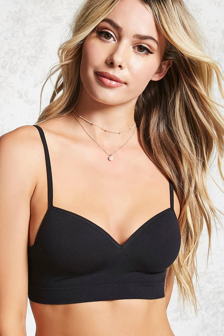 ffab7fc17be18c Forever 21 Seamless Push-up Bralette in Black - Save ...