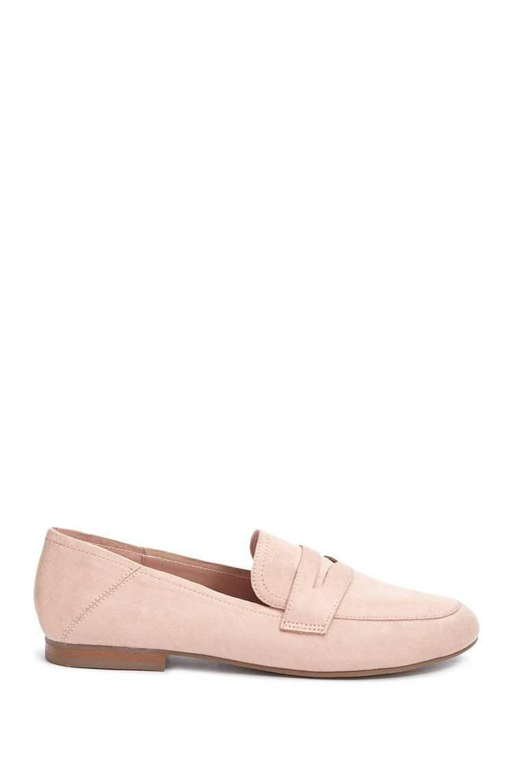 edf204d2a29 Lyst - Forever 21 Women s Faux Suede Penny Loafers in Pink