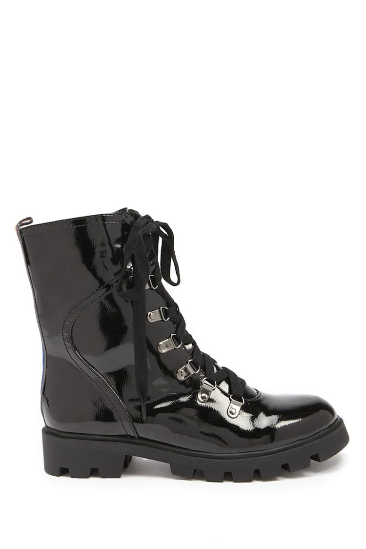 0ee2f597b8 Lyst - Forever 21 L4l By Lust For Life Combat Boots in Black