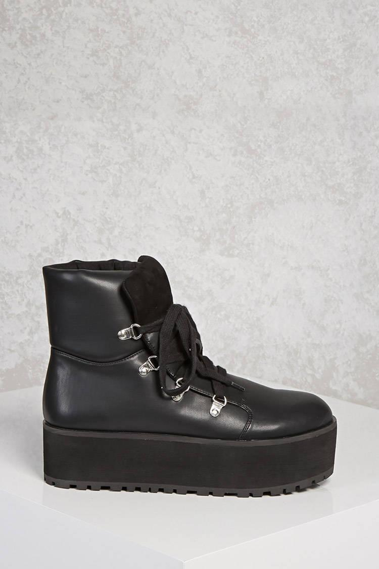 Forever 21 High-top Platform Sneakers in Black - Lyst bf071e9d4b