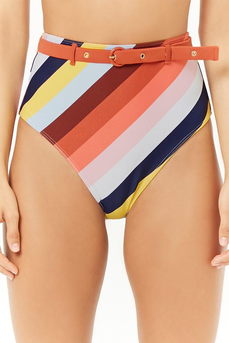 93b280c3a92b9 ... Women's Multicolor Striped High-waisted Bikini Bottoms - Lyst. View  fullscreen