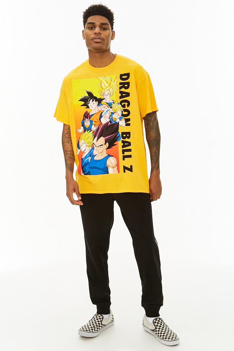 e0fb17855 Forever 21 Dragon Ball Z Graphic Tee in Yellow for Men - Lyst