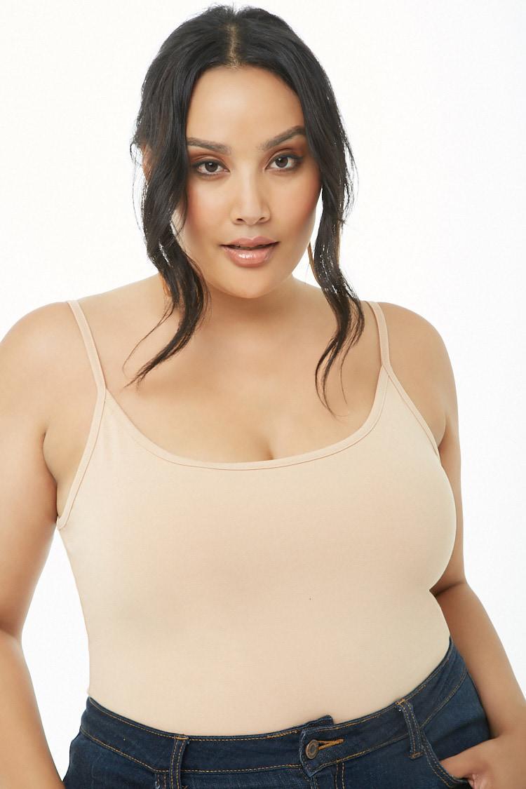 8f71a1c045207 Forever 21 Women s Plus Size Cami Bodysuit - Lyst