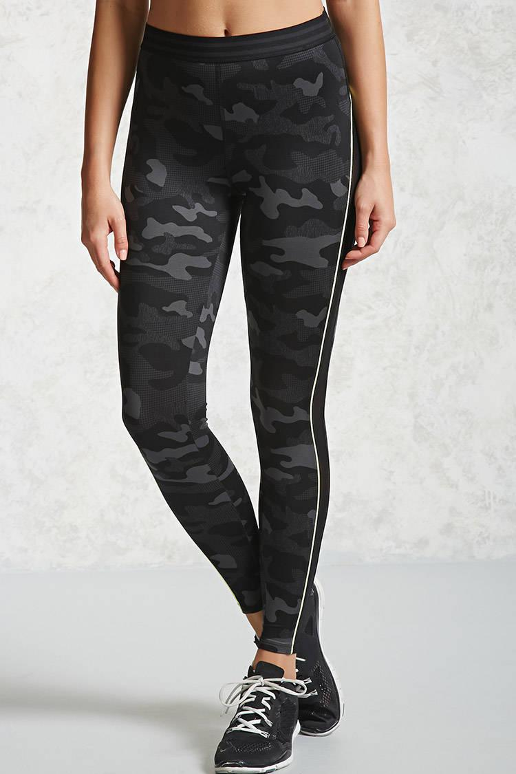 3f82aefe2f2a8 Forever 21 Active Camo Print Leggings in Black - Lyst
