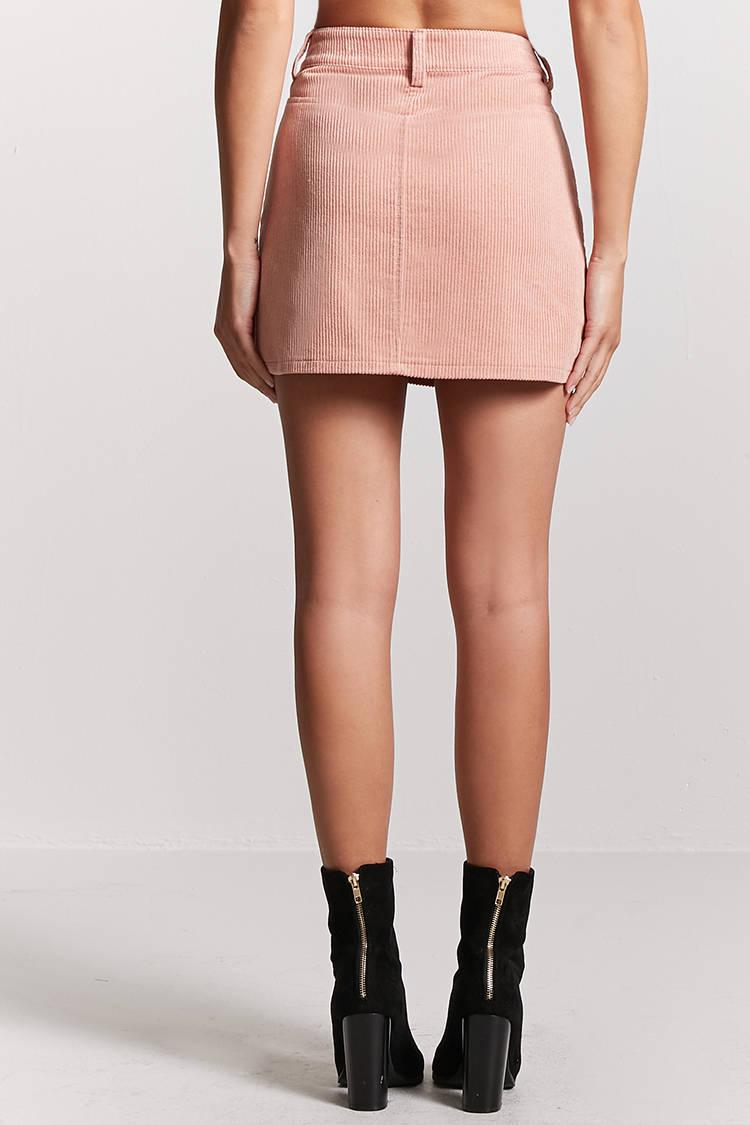 3e8b508df Forever 21 Corduroy Mini Skirt in Pink - Lyst